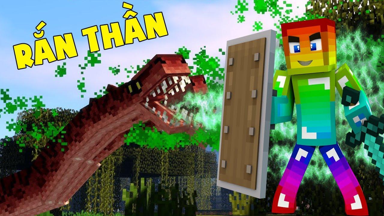Minecraft Thế Giới Rồng #36 : Rắn Thần Chấp Các Loại Đồ Vip Tấn Công