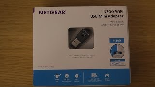 WNA3100M Netgear WiFi Adapter - Unboxing