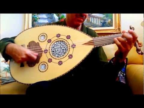 اغنية على شانــه Syrian Oud عود سوري خشب جوز Youtube