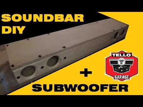 Soundbar 4 1 Diy Part #1 included internal Subwoofer