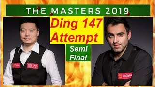 【Ding Junhui 147 Attempt】vs Ronnie O'Sullivan ᴴᴰ  SF [2019 Snooker Dafabet Masters] [720P]