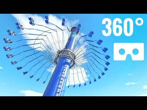 [360 Degree Video] 360° Swing Carousel Ride Roller Coaster Nintendo Switch Virtual Reality VR Box