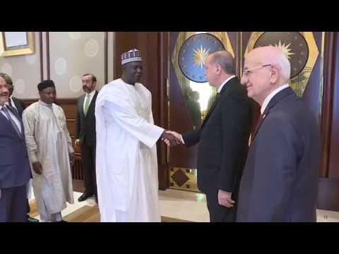 Erdoğan Nijer Ulusal Meclis Başkanı Tinni'yi ağırladı