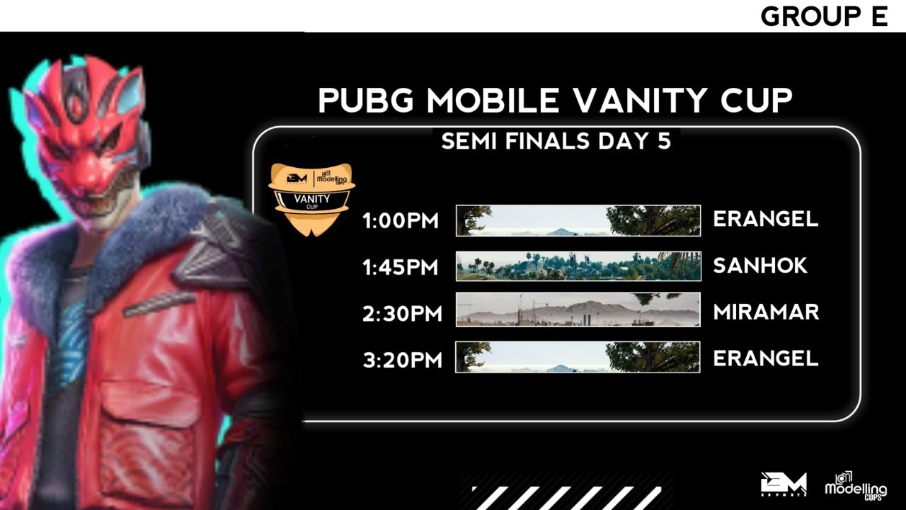 PUBG Mobile Vanity Cup | Semi-Finals Day 5 | Group E | Battlemania Esports | Modelling Cops