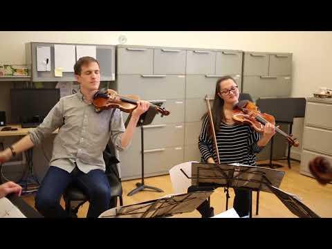 Rehearsal Snapshot:  String and Piano Chamber Music