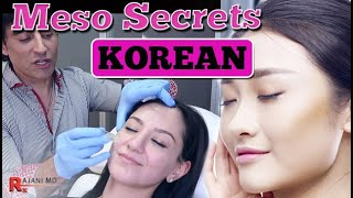 MY SKIN INGREDIENTS FOR KOREAN GLASS SKIN // Mesotherapy