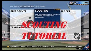 MLB The Show 18, Franchise Scouting Tutorial