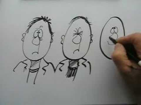 HOW TO DRAW CARTOON FACES - YouTube