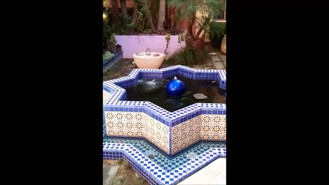 Fish By Design Koi pond & Water Feature with Moorish Tiles