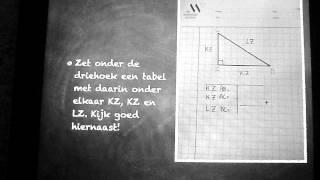 pythagoras voor vmbo, deel 1. Lange zijde berekenen.