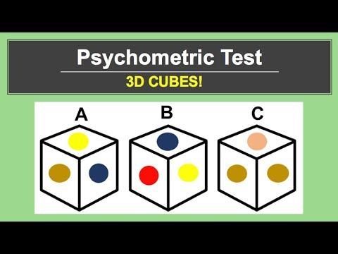 Psychometric Tests (3D CUBES)!