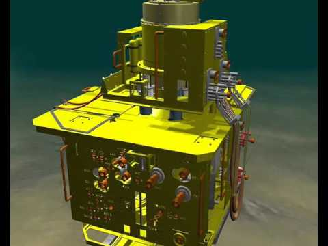 Oil and gas drilling Installing XMAS TREE - ANIMATION