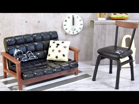 Re-Ment Miniature Peanuts Snoopy Mono Room Furniture Set # 4 FAVORITE CHEST