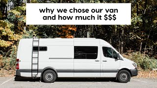 Why we chose the Mercedes 170EXT Sprinter and HOW MUCH IT COST // VAN LIFE