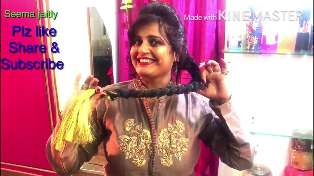 parandi tie indian hairstyle/hair tutorial the paranda braid seema jaitly