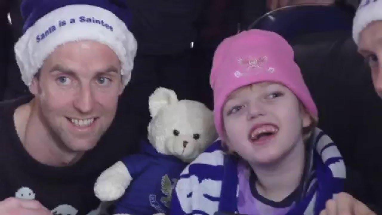 Saints visit CHAS Children's Hospice in Kinross - YouTube