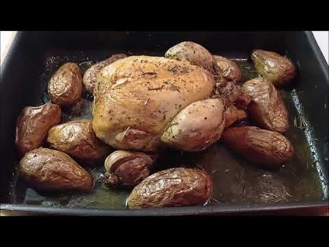 ricetta-semplice-**pollo-arrosto-e-patate**