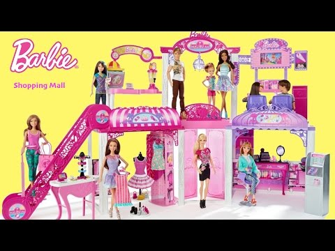 Thumbnail: Barbie Life in the Dreamhouse Malibu Mall with Dolls Unboxing Assembly Dolls Toy Play
