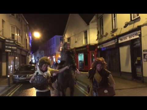 Maniac on HORSE with SWORD runs riot in Sligo menswear store!