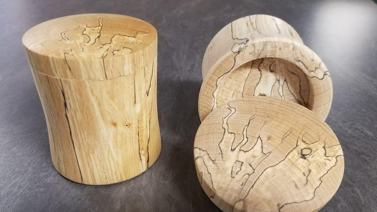 tournage sur bois boite en bois chauff youtube