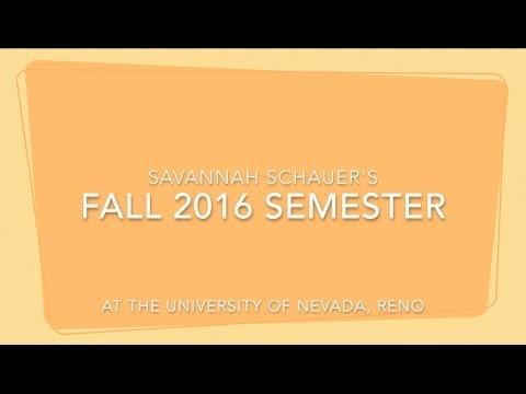 Fall 2016 Semester at the University of Nevada, Reno