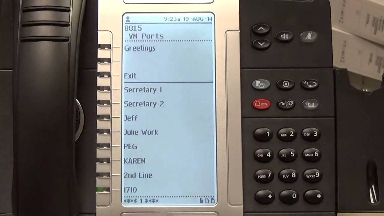 Recording The Greeting On Your Mitel Phone Youtube