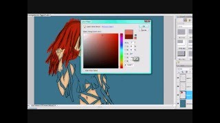 Fire Ribbons Anime Speed Paint xD