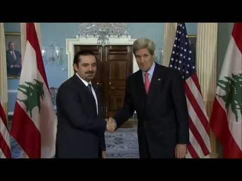 Secretary Kerry Delivers Remarks With Former Lebanese Prime Minister Saad Hariri