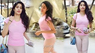 Janhvi Kapoor Spotted in Tight Dress after Gym Workout | Fitness Girl