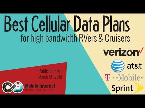 Best Cellular Data Plans for High Bandwidth RVers & Cruisers (March 2018)