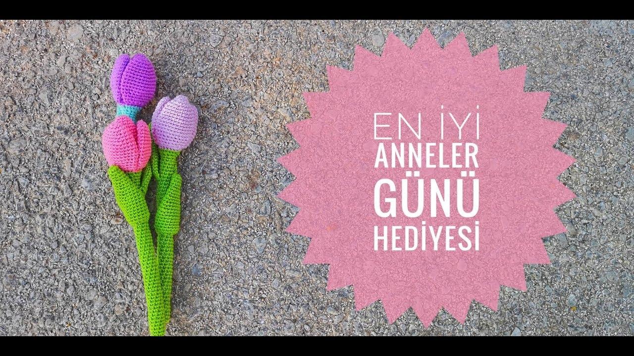 Amigurumi Lale Yapımı | Anneler Gününe Özel | How to make amigurumi tulip | Happy Mother's Day