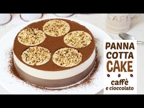TORTA PANNA COTTA CAFFÈ E CIOCCOLATO | ricetta veloce | senza gelatina | dolce al cucchiaio