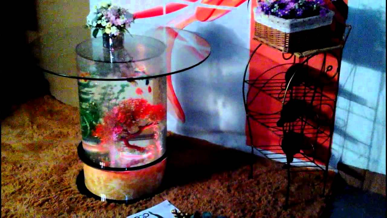 Aquarium water fish tank glass top coffee table a343 youtube geotapseo Gallery