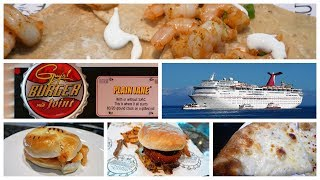 Carnival Cruise Guy's Burger Joint, Pizza Pirate, Blue Iguana, Deli & Menus (4K)