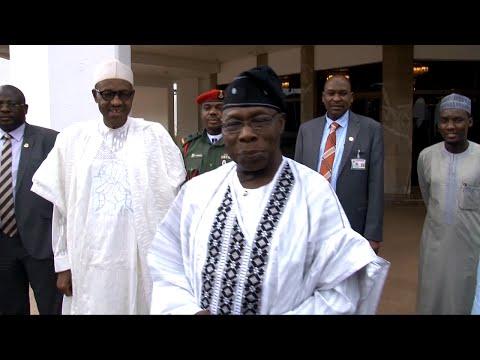 'No No Joor', Obasanjo Tells Journalist After Meeting With Buhari -- 08/09/15