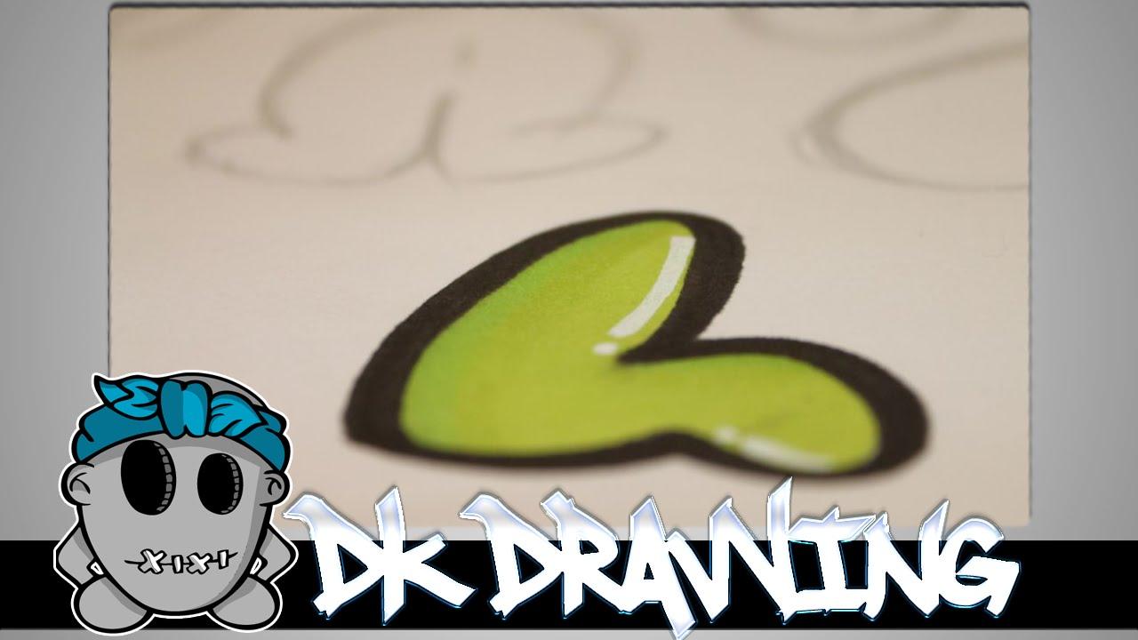Graffiti Tutorial for beginners Bubble Letters 6