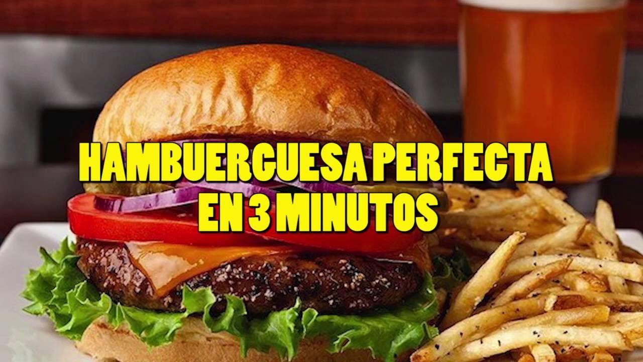 Como cocinar hamburguesas en 3 minutos youtube for Cocinar en 30 minutos