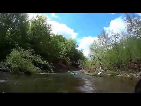 Kayaking Lycoming Creek from Field Station to 973 west bridge Cogan Station