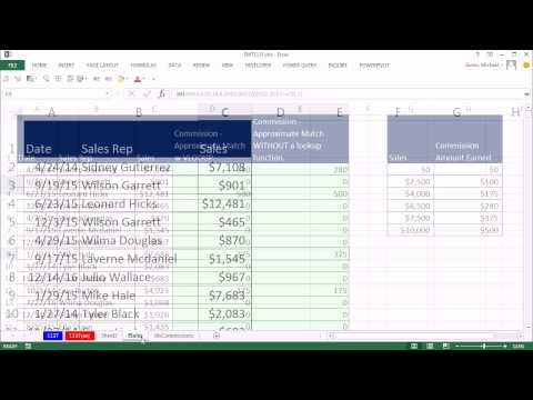 Excel Magic Trick 1137: Excel & PowerPivot DAX Formula: Approximate Match Lookup Without VLOOKUP