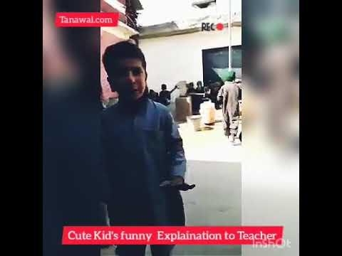 Cute Kid's funny Explaination to a teacher, Funny Hindko