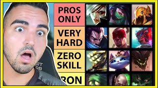 Ranking Every League of Legends Champion based on how hard they are