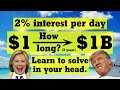 Do Compound Interest in Your Head (Economic Growth #1)