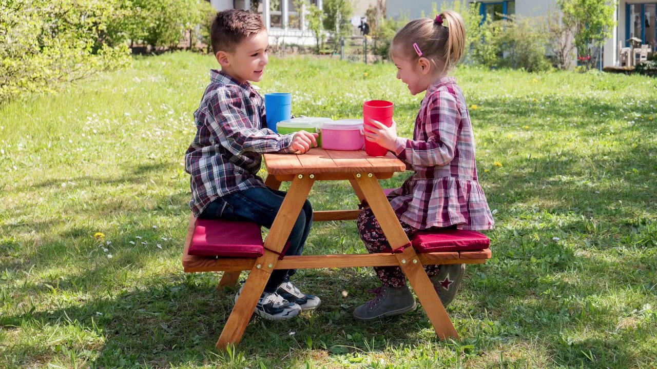 Kids Table And Bench Picnic
