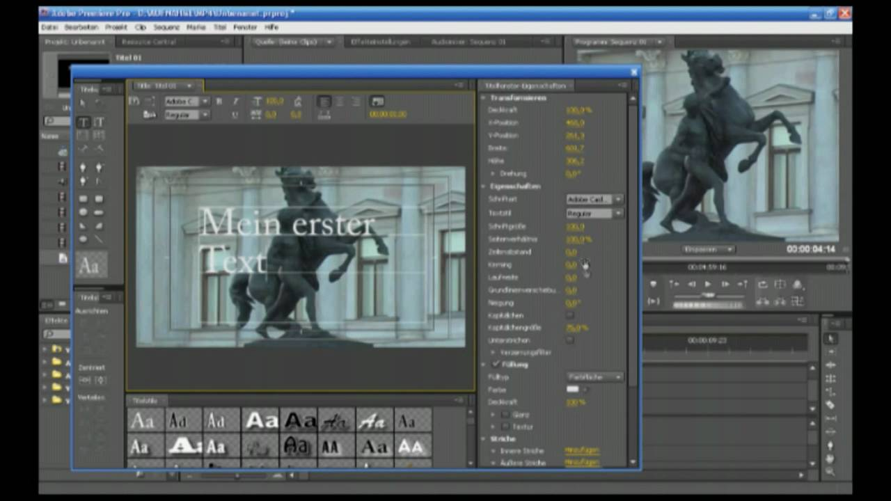 how to add a title adobe premiere pro