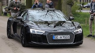 NEW Audi R8 V10 Plus !! - Black on Black - Sound & Accelerations