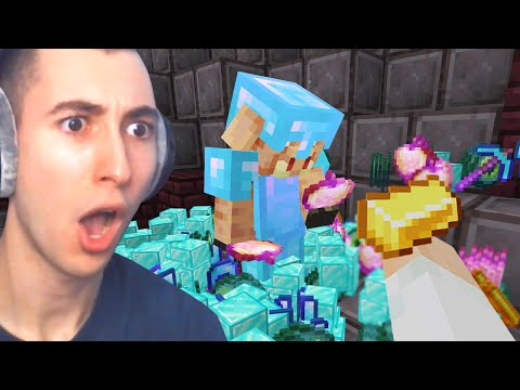 Minecraft, But Trading Drops OP Items...