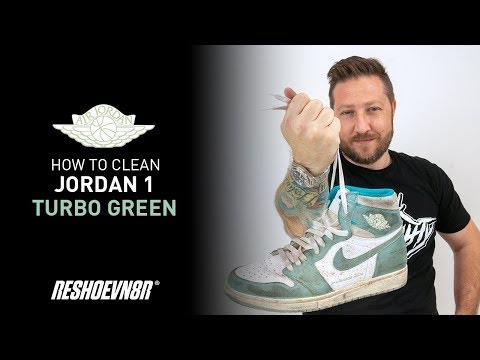 How To Clean Air Jordan 1 Turbo Green With Reshoevn8r!