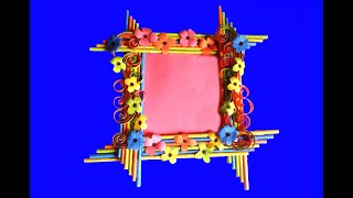 learn to create a nice frame with paper crafts very easily