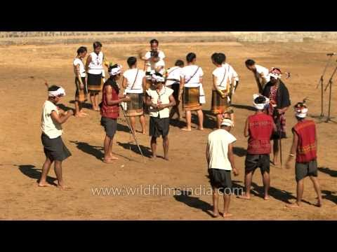 Spinning the top an indigenous game of the Kuki tribe