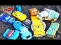 Disney Cars 3 Thunder Hollow Miss Fritter Plays Dirty In Mud Crazy 8 Crashers Mr Drippy